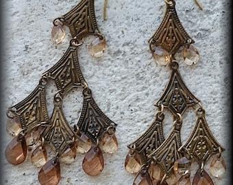 Vintage Bohemian Chandelier Earrings
