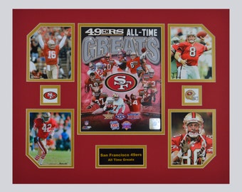 San Francisco 49ers NFL Football All Time Greats 16 x 20 inch Collage