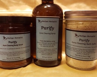 Purify Room and Body Spray, aura clearing spray, energy clearing spray