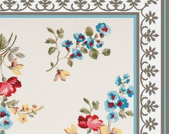 FREE SHIPPING Flowers Pattern Decorative PVC Vinyl Mat Linoleum Rug   Roses  01