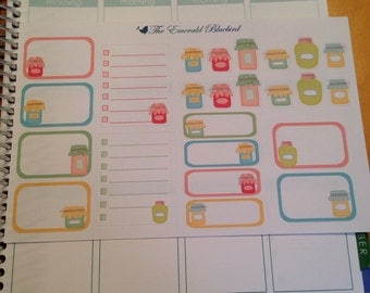 Canning sticker set -  for your EC planner