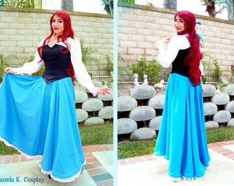 PRICE DROP!!! Ariel The Little Mermaid Costume, Day Dress *FREE wig included*