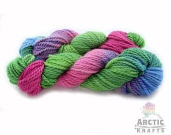 Summer refreshment, hand dyed alpaca/merino wool 70/30. 100 yards