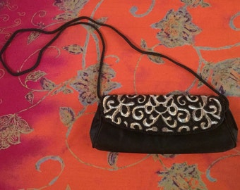 Vintage Beaded Cross Body Clutch