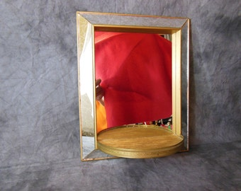 Shadowbox Mirror With Display Shelf, Vintage