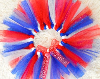 Fourth of July tutu-4th of July tutu- Baby tutu- multi colored tutu-red white and blue tutu- baby photo prop-4th of july outfit- july 4th