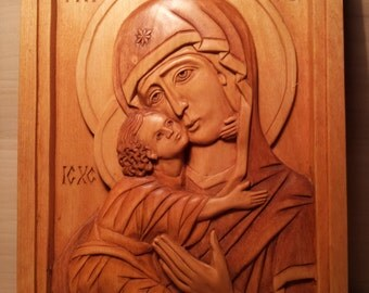 Icon Byzantin Mary with Child