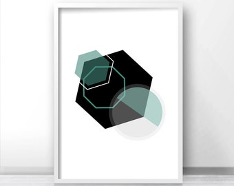 Geometric Wall Art Print, Instant Download Printable Art, Modern Art, Abstract Geometric Print, Digital Download Art, Modern Printable Decor