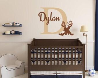 Personalized, Deer, Buck, Outdoor, Hunting, Hunter, Boy, Girl, Teen, Children, Vinyl, Wall, Decal, Bedroom, Nursery, Home, Decor, Animal