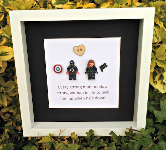 Wedding Gifts For Nerds: Captain America Black Widow Couples Gift Nerdy Decor