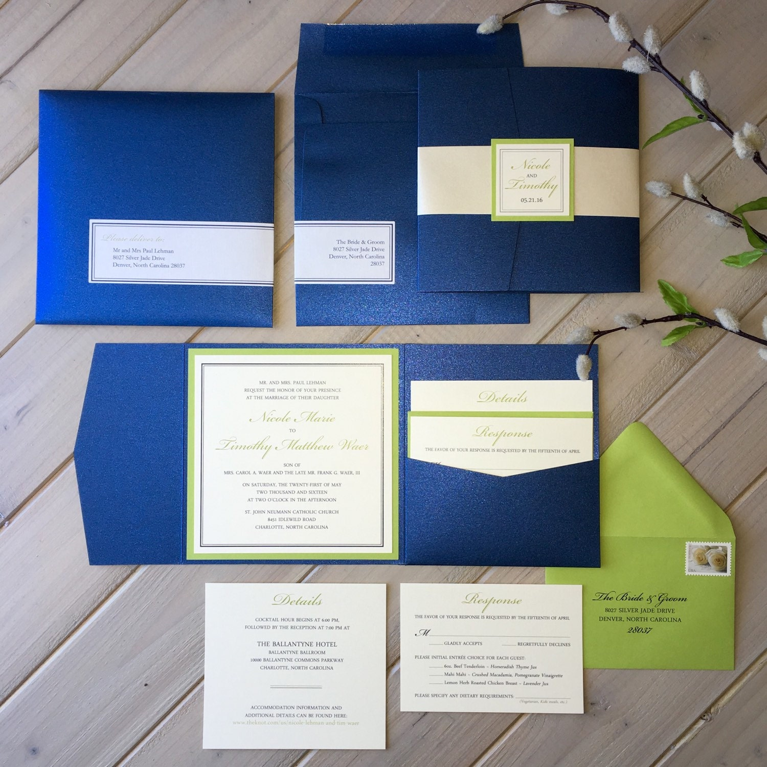 Navy And Lime Green Wedding Invitations Navy And Green