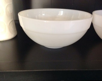 Set of 2 Fire King White Mixing Bowls
