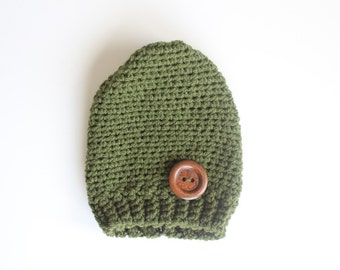 Olive Green Slouchy Beany