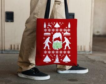 Yukons Beard Christmas Tote Bag, Funny Gift, For Him or For Her
