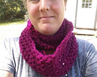 Infinity scarf in plum