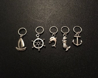 Sea themed stitch markers (C)
