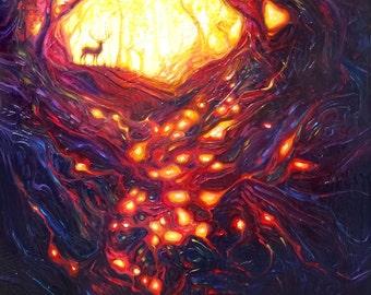 Print on Canvas - Wild Wood Awakens - an Autumn woodland landscape