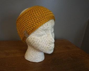 Mustard Crocheted Headband (Women's)