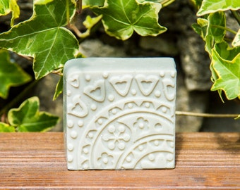 Handmade Soap Green Clay, All natural soap, Homemade soap, Palm free soap, Lightly Scented soap, Vegan soap, Cold Process Soap