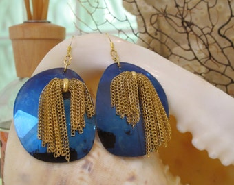 Recyled sunglass lenses are now amazing earrings!!