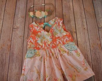 Let it Be tunic/dress, girl boutique clothing, boutique clothing, girls dresses, guitar dress, summer dress, pocket dress