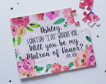 Bridesmaid Proposal Puzzle | Will you be my Maid of Honor Bridesmaid Flower Girl Bridal Party 001