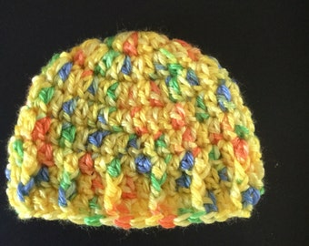Crochet hat for preemie 4to 6 lbs baby girl or baby boy,newborn crochet hat,3month crochet hat,crochet baby clothes,photoprop,babyshowergift