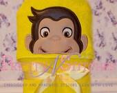 Curious Monkey Peeker Applique Embroidery Design (5X7 Hoop)