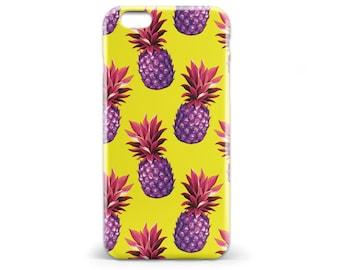1424 // Yellow and Pink Retro Pineapple Phone Case iPhone 5 5S iPhone 6 6S Samsung Galaxy S5 Samsung Galaxy S6 Samsung Galaxy S7 Edge Plus
