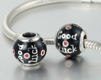 sterling silver charm for bracelets fits authentic pandora and european bracelets good luck charm
