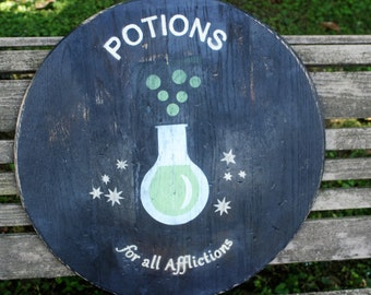 Harry Potter Replica Sign, Wooden Sign, Harry Potter Potions Sign