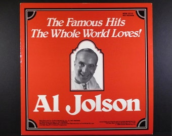 "Vintage Vinyl ""Al Jolson The Famous Hits The Whole World Loves"" / 1988 Club Edition / ""Swanee"" / ""Alexander's Ragtime Band / Singer & Movies"