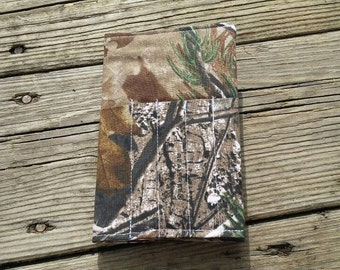Camouflage Travel Notebook Cover, Fabric Field Notes Cover,  Fabric Planner Cover, Moleskine Cover, Small Notebook Cover, Camo Notebook