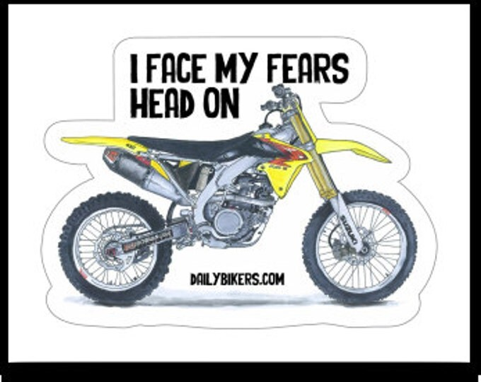Motorcycle Stickers - Suzuki Enduro Motorcycle drawing printed on high quality vinyl stickers