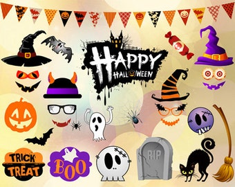 Printable Halloween Photo Booth Props, Instant Download Halloween Party Photo Booth Props, Digital Halloween Photo Booth Prop, 00347
