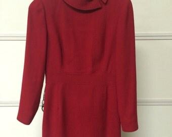 Red Wool  Dress by Lpurdes Chavez, size 4