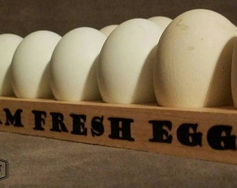 Wood Burned Egg Rack