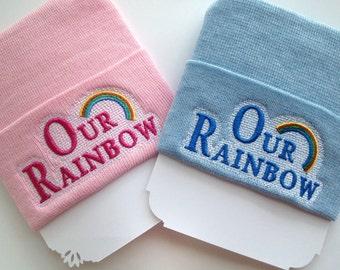 Rainbow baby hat  - Newborn baby hat boy - newborn baby hat girl - rainbow baby shower gift - rainbow baby coming home outfit hat - baby hat