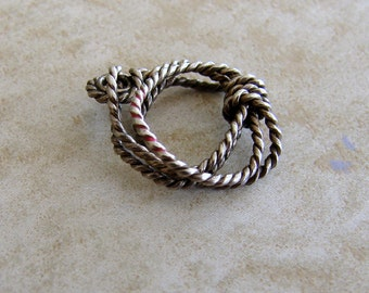 Western Rope Sterling Silver Bracelet Charm Lasso Cowboy