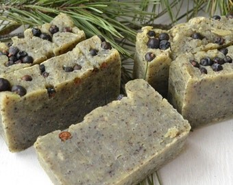 Organic Soap from Russia with natural juniper berries from Siberia