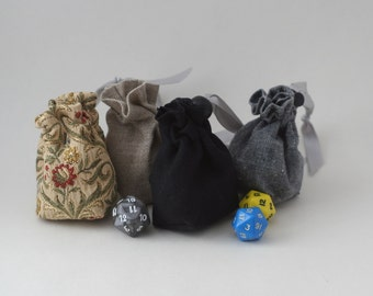 Small Dice Bag, Pouch, Drawstring, D&D, RPG, Warhammer, Magic, Board Games, Dices, Tokens, Counters