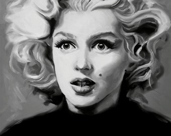 Marilyn Monroe Fine Art Print - (Norma Jeane - Hollywood - Some Like It Hot - Gentlemen Prefer Blondes - Icons - Black & Whie)
