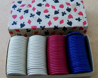 Vintage Stackwell Harvite Poker Chips - Box of 100