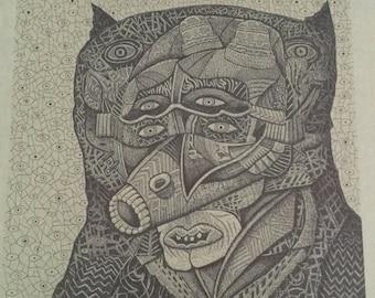 Original Pen & Ink Drawing by Stephen Melnick