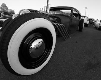 Vintage Car Mancave Decor Instant Download Printable Digital Download  Fisheye Lens Classic Car Rat Rod Art for Him