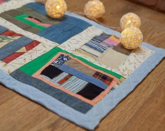 Indoor Mat, Play Mat, Quilt, Door Mat, Two Sided Patchwork