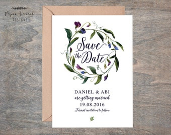 Floral Woodland Save the Date