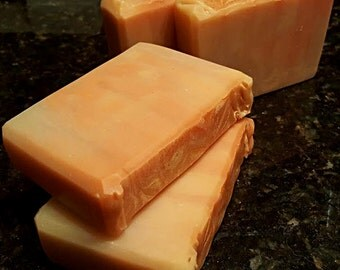 Fruit cup Silk Artisan Soap Bar/ Cold Process Soap/ Silk Soap/ Fruity Soap/ Home made Soap/ orange soap/ citrus soap