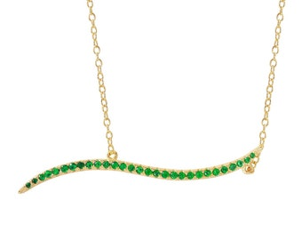 Necklaces sterling silver red , green, blue or clear zircons