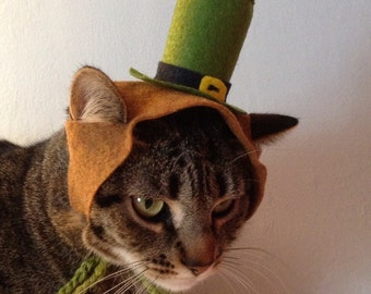Saint Patrick's Day hat for cats